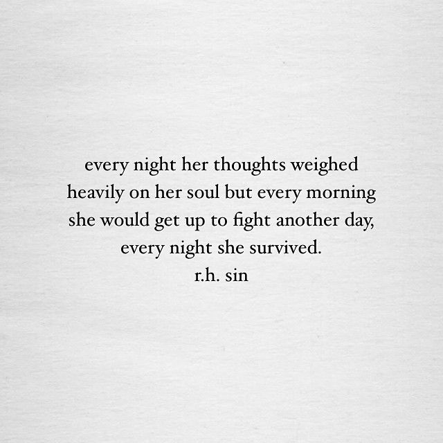 every night she survived.