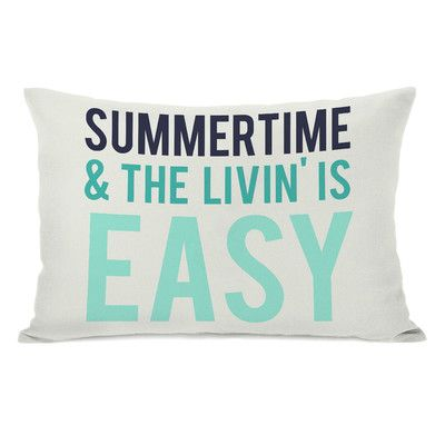 Oliver Gal Summertime & The Livin' is Easy Pillow