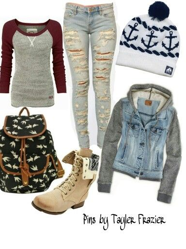 I like the jeans and the shirt, but i would wear the jacket with something else. Discover and share your fashion ideas on www.popmiss.com