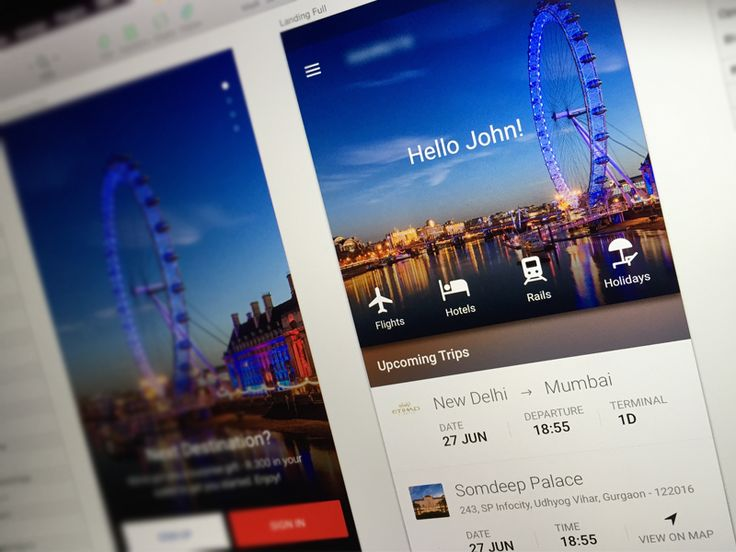 Travel app_Home Page by vikas1307