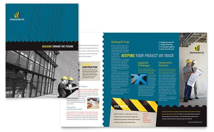 Industrial & Commercial Construction Brochure Template - Word ...