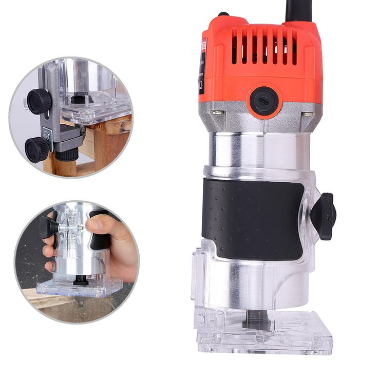 110V 750W 1/4 Inch Corded Electric Hand Trimmer Wood Laminator Router Joiners Tools