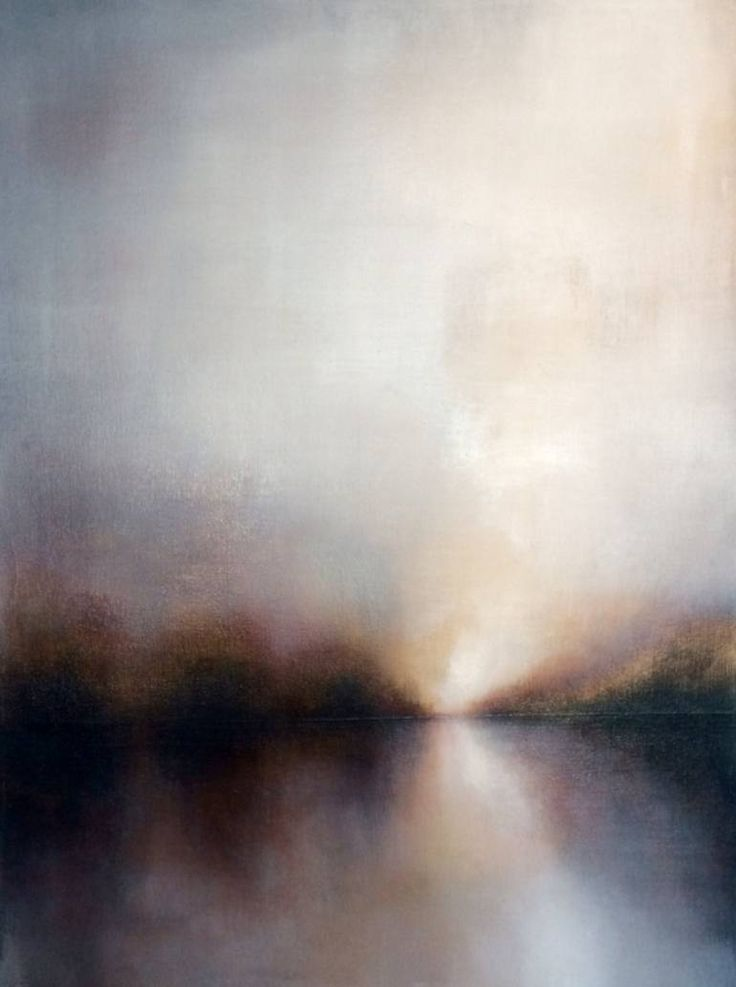 "Saatchi Art Artist: Michelle Tholen; Acrylic 2015 Painting ""Soft Light Sky, 2015"""