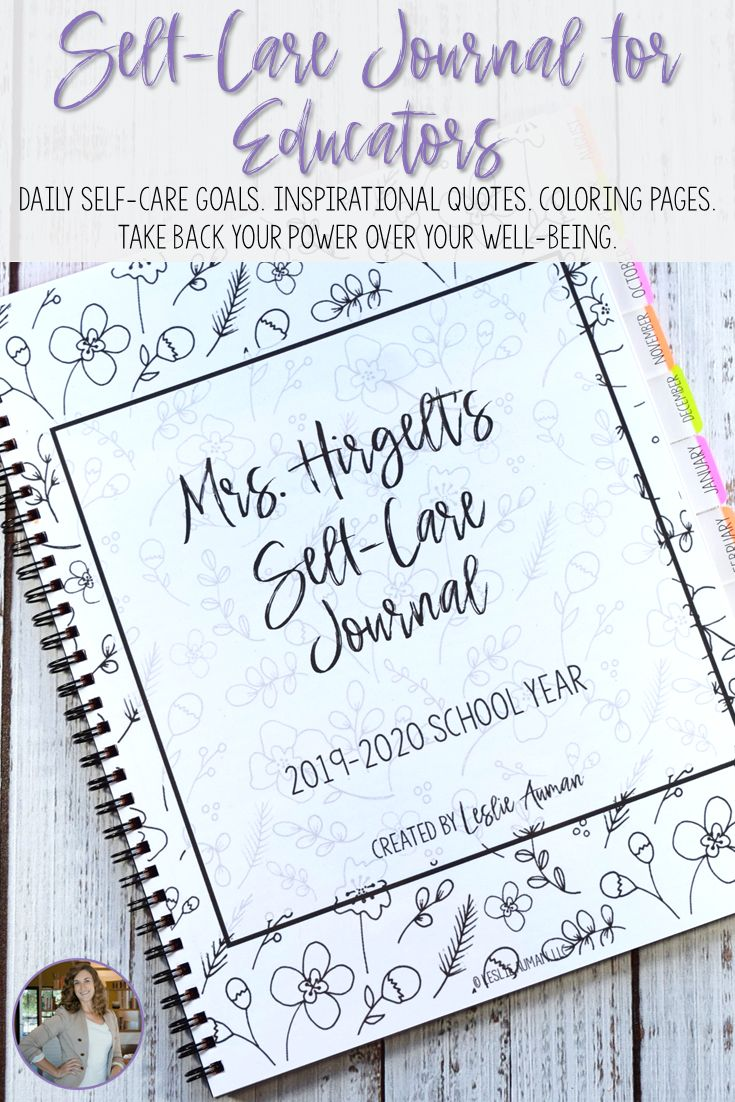 SelfCare Journal for Educators for Back to School 2019