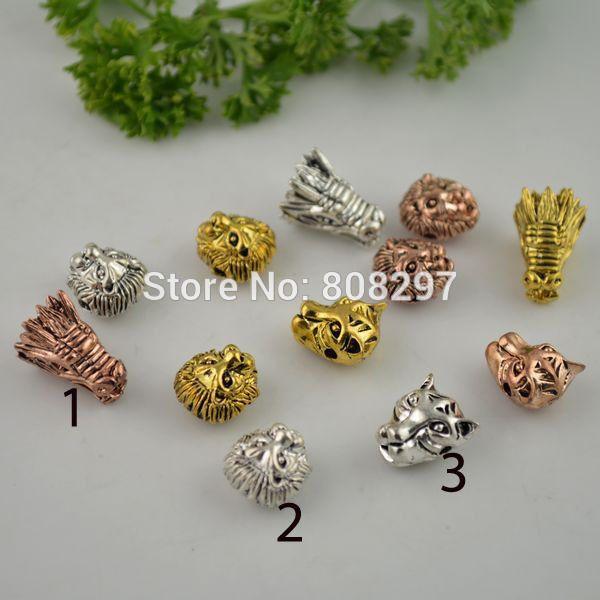 Cheap  Fai da te 50 pz antico drago/tiger/lion head del branello del distanziatore di fascini per il braccialetto monili che fanno  , Compro Qualità Perline direttamente da fornitori della Cina:          Un  .  1.        Formato:        15*12    Mm        2. size:  13*12mm        3. size:  13*12mm    2.   Circosta