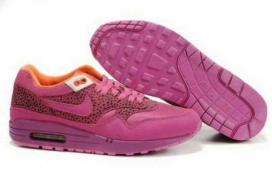 3YGT4X Men Nike Air Max 1 Plum Red Orange Sale Online