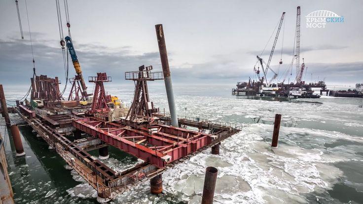 Ледоход не повлиял на строительство Крымского моста