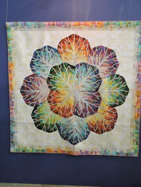 "2016  tokyo international quilt festival   ""Hannah Cabbage"""