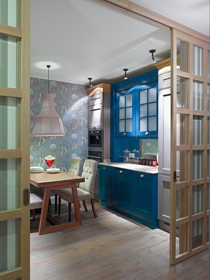 Яркая квартира с печью на Кутузовском проспекте – Красивые квартиры