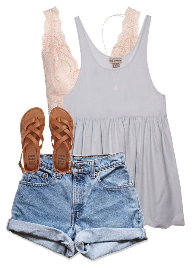 """Wearing my romper! ✌️"" by erinlmarkel ❤ liked on Polyvore featuring Topshop, Levi's, Billabong and Kendra Scott"