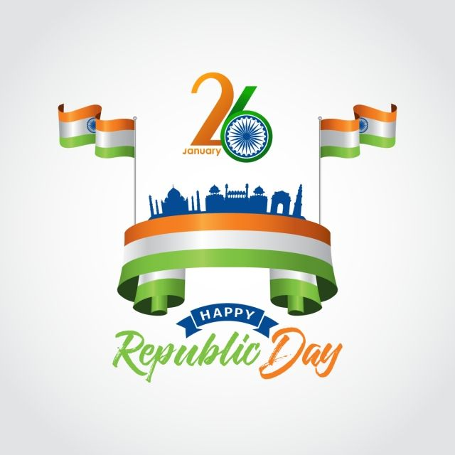 26 january image hd png indian republic day  january, flag of india, india,
