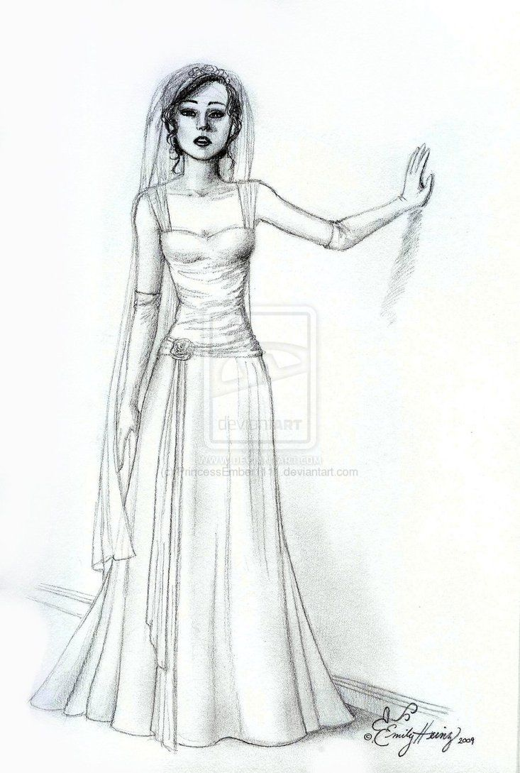 Vampire Queen Coloring Page Long Dress