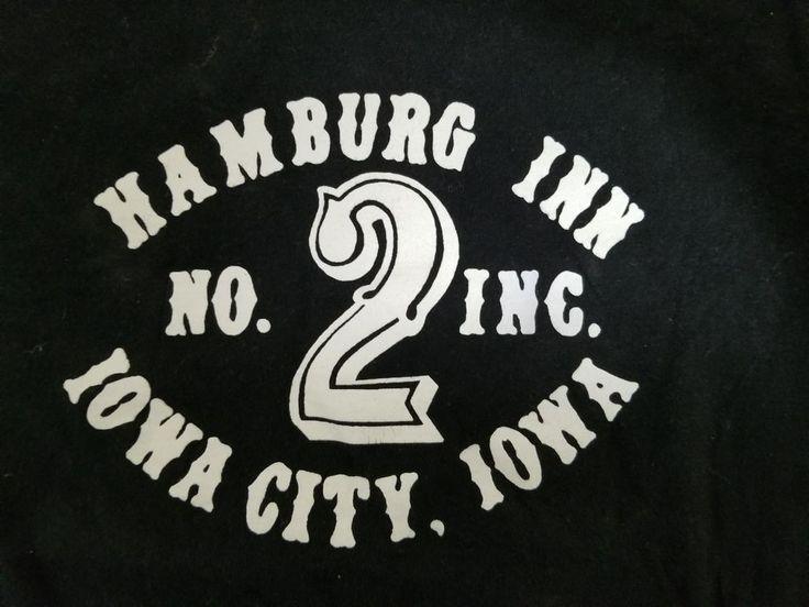 Small Hamburg Inn Iowa City Iowa T shirt Black short sleeve Tee S No. 2, Cotton