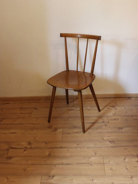 Vintage Stühle   50er Jahre Holzstuhl von Hiller  6St. verfügbar   ein Designerstück von ...