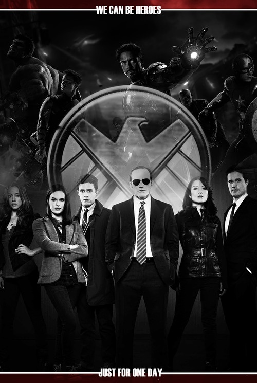 Cool poster for Marvel's Agents of S.H.I.E.L.D.  The show debuts on ABC this Fall.  #WeCanBeHeroes