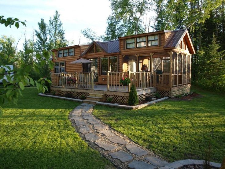 Cabin on the Lake   Bemidji Area Camping At Summer Haven on Gull Lake. Best 25  Park model homes ideas on Pinterest   Park homes  Mini