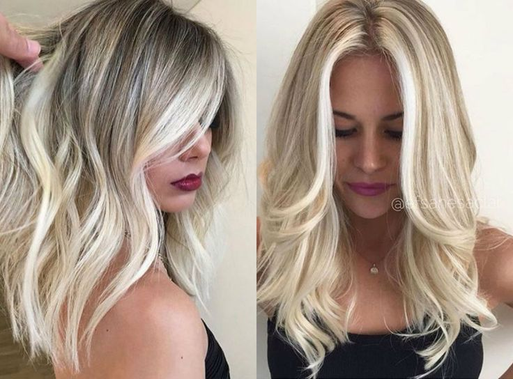 Medium Blonde Hairstyles christina aguileras chic medium blonde hairstyle with bangs Try Balayage For Your New Haircolor Trends 2017