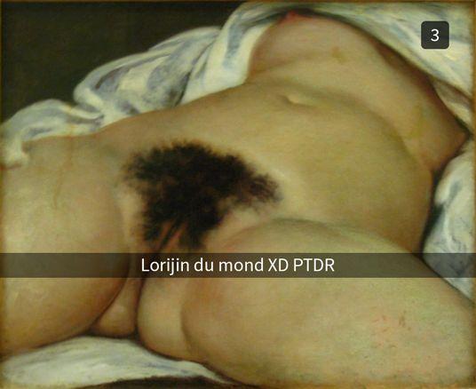 15 juillet 1866 vers minuit, Gustave Courbet essaie Snapchat.