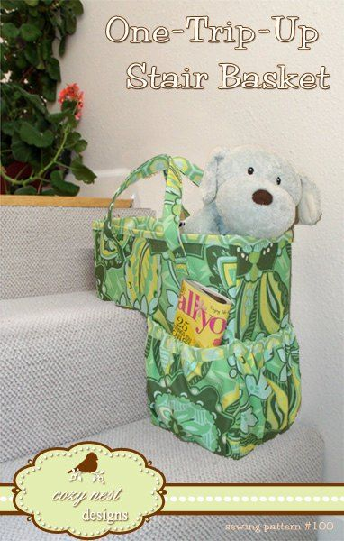The One-Trip-Up-the-Stairs Basket - PDF Sewing Pattern by Cozy Nest Designs