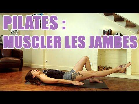 3 exercices de Pilates pour affiner et renforcer vos jambes - YouTube