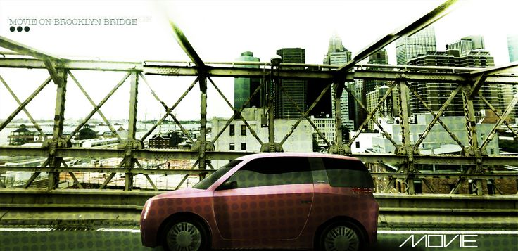 MOVIE Concept car - on the Brooklyn Bridge