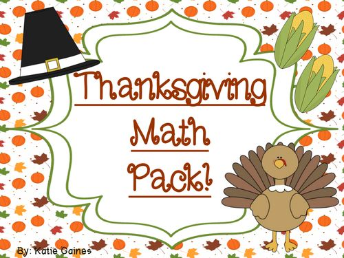 This Thanksgiving math pack has a bunch of fun activities aimed at helping your little ones in math! This packet contains:  *Addition and subtraction games *Counting/representing number activities *Graphing game  *2 time worksheets  Enjoy and Happy Thanksgiving!!