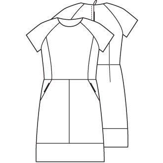 Leren jurk (PDF patroon)   Vrouwen   Knipmode naaipatronen
