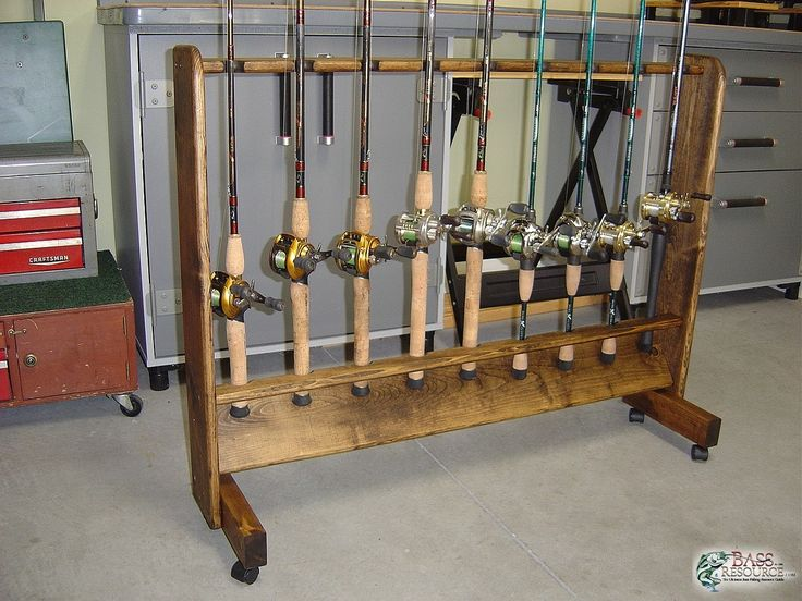 Gallery 25379 576 diy pinterest home made for Fishing rod holders for home
