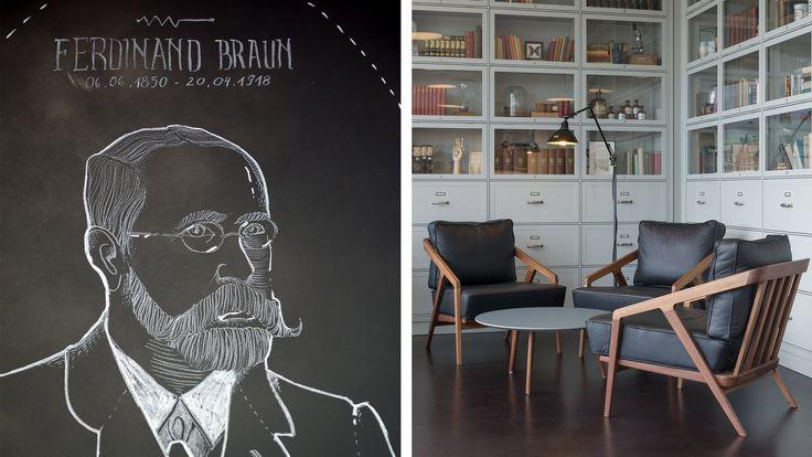 Aerogram Studio — Graphic and Interior design for Café Ferdinand in the Vodafone flagship store in Hamburg. Chalk illustration by Natalya Posukhova.