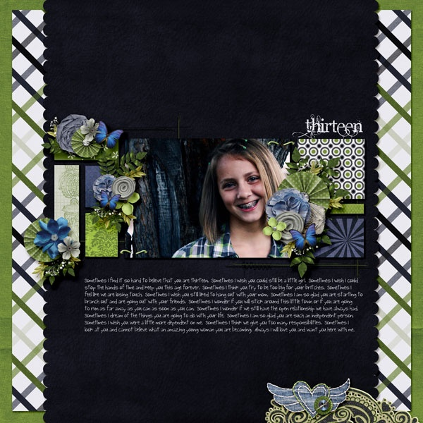 Layout by Wendy Tunison Designs using She Wore Blue Jeans: Scrapbook Ideas, A Mini-Saia Jeans, Wore Blue, Blue Jeans, Wendy Tunison, Tunison Design, Design Layout