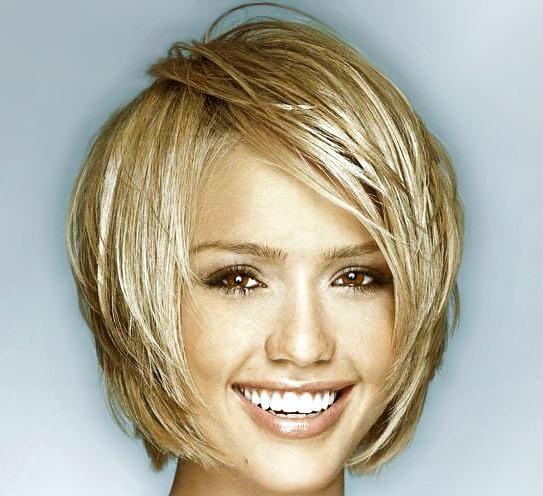 Wash and Go Bob Haircuts   short haircuts female celebrity haircuts jessica alba short hair ...