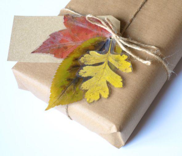 Autumn Leaf Gift Tag