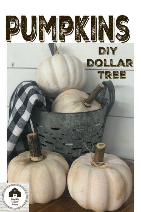 Dollar Store DIY Pumpkin Makeover