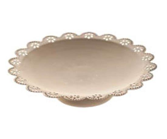 Coppa con alzata in metallo Smerlato - d 26 cm