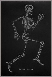 Skeleton Typogram - Aaron Kuehne
