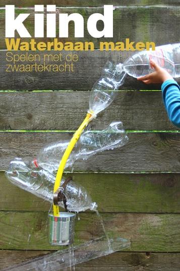 Waterbaan maken | Kiind. Speelgoed zelf maken. recycle, upcycle oude frisdrank flessen. Goedkope knutsel tip van Speelgoedbank Amsterdam voor kinderen en ouders. Goedkoop knutselen en lekker buiten spelen.