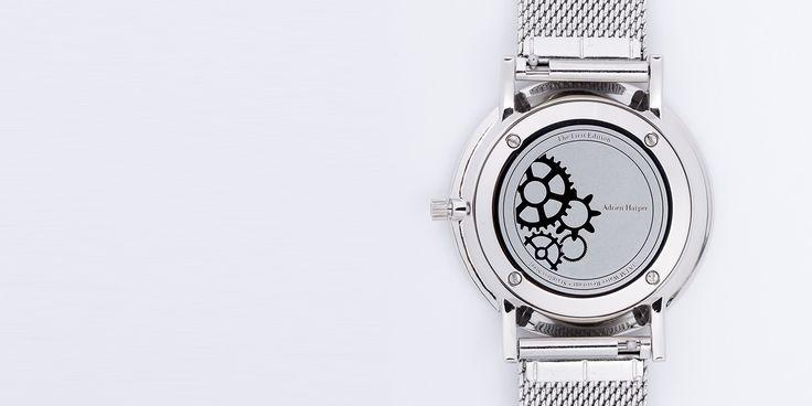 Details.  Silver mesh minimalistic female watch