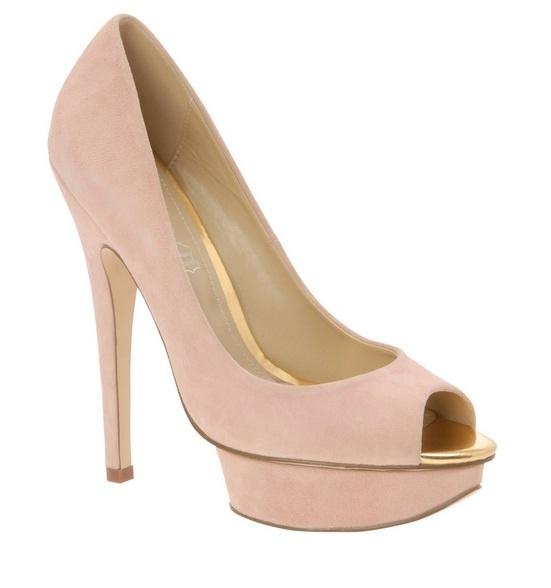 Rebajas en ALDO, peep toe rosa pálido