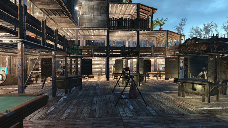Fallout 4 the starlight bazaar settlement the o 39 jays for Fallout 4 decorations