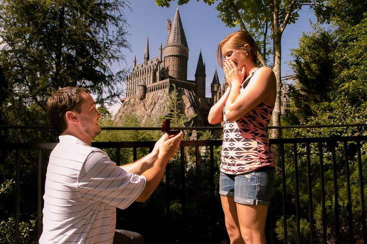 Wizarding World of Harry Potter Proposal | Universal Studios Orlando Proposal Photographer