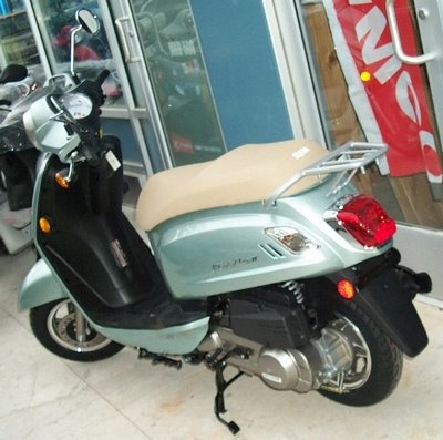 SYM FIDDLE II 125. SYM or Sang Yang Motors was once a Honda partner and isTaiwan's largest scooter manufacturer.
