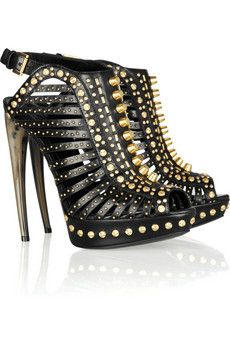 Alexander McQueen studded leather sandals- Pure Rocker chic. Can you handle it.
