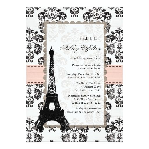best images about paris wedding invitations on, invitation samples