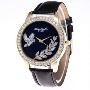Luxury Brand Fashion Watch With Love Bird Design on Watch Face. Check out here.