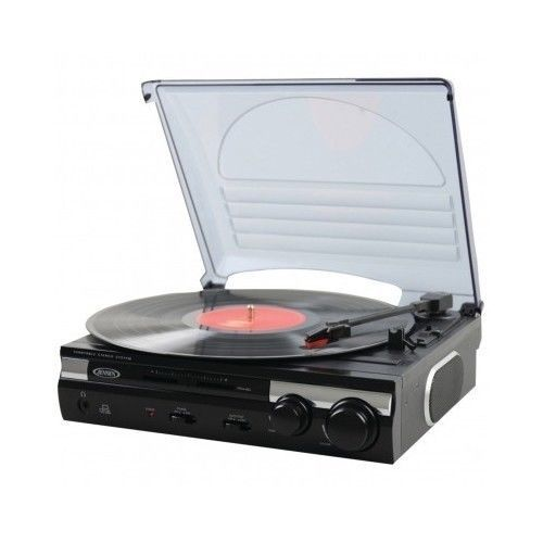Jensen Record Player 3 Speed Stereo Turntable with Built In Speaker Vinyl To MP3 #Jensen