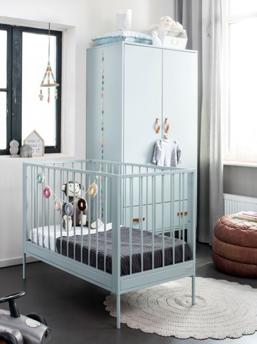 Peuterbed Comming Kids.Coming Kids Bliss Ledikant Metaal Mint Babykamer Babybed