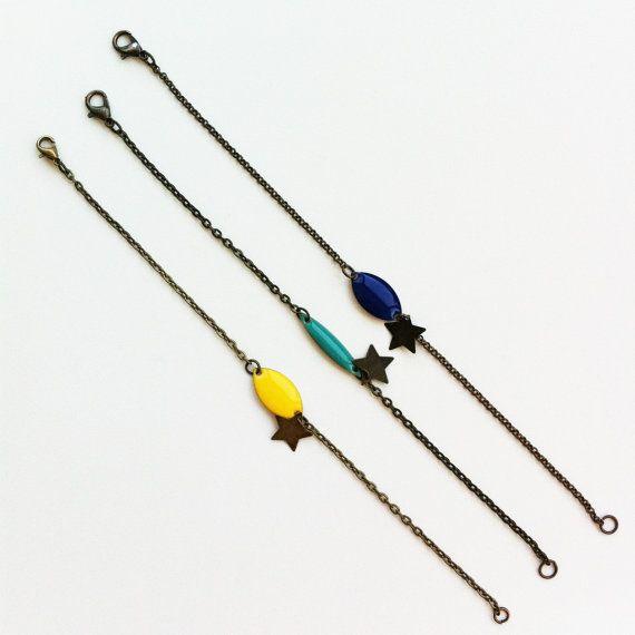 Bracelet sequins émaillés