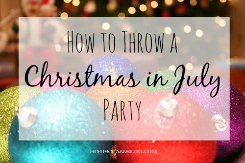 How to Throw a 'Christmas in July' Party