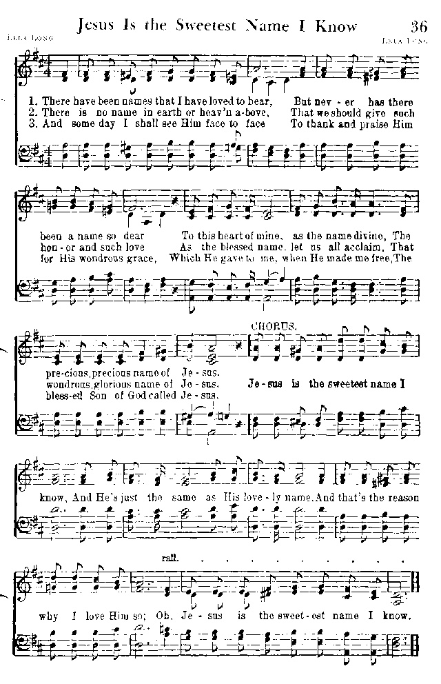 What A Lovely Name The Name Of Jesus Sheet Music Denmarpulsar