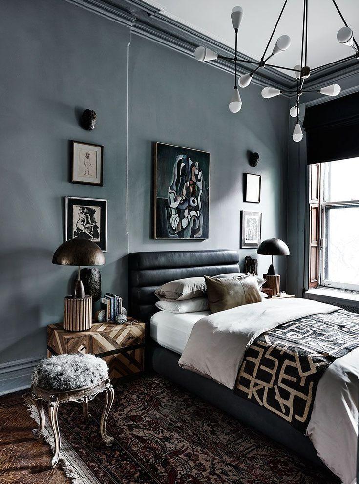 Dunkles Schlafzimmer Schlafzimmer Einrichten Dunkel Interior